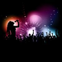 Kvinnlig sångerska utförande vektor