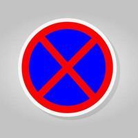 Kein Anhalten oder Parken des Verkehrszeichens vektor