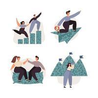 persönlicher Finanzmanagement-Illustrationssatz vektor