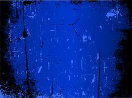 Blå grunge bakgrund vektor