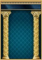 goldenes klassisches Bogenportal und Säulen vektor