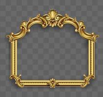 goldener klassischer Rahmen des Rokoko-Barock vektor