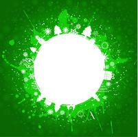 Grüner grunge Weihnachtshintergrund