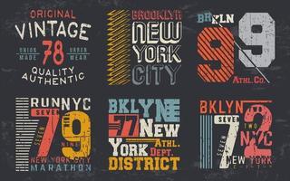 Vintage-Design-Druck für T-Shirt-Stempel, T-Shirt-Applikation, Modetypografie, Abzeichen, Etikettenkleidung, Jeans und Freizeitkleidung. Vektorillustration vektor