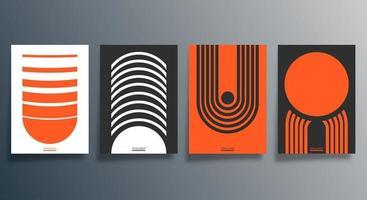 geometrisches Minimal-Design für Flyer, Poster, Broschüren, Hintergrund, Tapete, Typografie oder andere Druckprodukte. Vektorillustration vektor