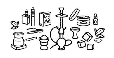 Shisha Doodle Set vektor