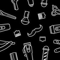 Vektor nahtlose Illustration für Friseursalon