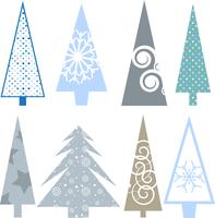 Weihnachtsbäume vektor
