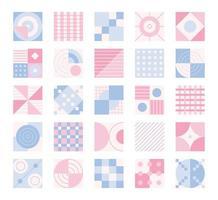 Musterdesign aus Garten und quadratischen Formen. einfache Musterentwurfsschablone. vektor