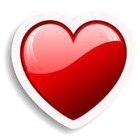 hjärta ikon vektor