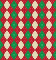 Weihnachten argyle Muster vektor
