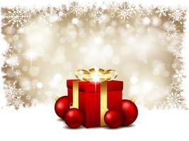 Weihnachtsgeschenke und Kugeln