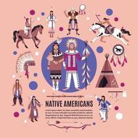 Designkonzept der amerikanischen Ureinwohner vektor