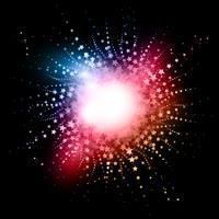 Abstrakt stjärnbusteffekt bakgrund vektor