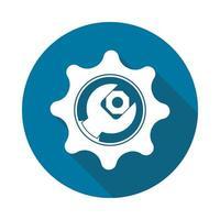 Service-Tool-Symbol auf weißem Hintergrund, einfaches Design style.vector Illustration vektor