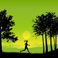 Weiblicher Jogger vektor