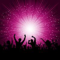 Party Menschenmenge Hintergrund vektor