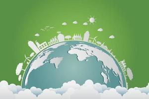 ecology.green Städte helfen der Welt mit umweltfreundlichen Konzeptideen vektor