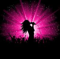 Kvinnlig sångare vektor
