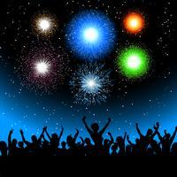 Party mit Feuerwerk vektor