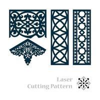lasergeschnittenes islamisches Muster vektor