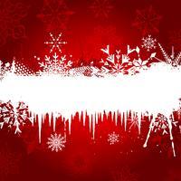 Schneeflocke und Eiszapfen Hintergrund vektor