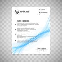 Modern blå vågig affärsmall broschyr vektor