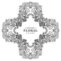Abstrakt dekorativ blommig ram bakgrund vektor