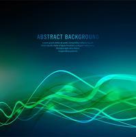 Abstraktes blaues buntes Welle backgrond vektor