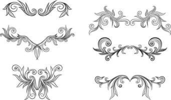dekorative Elemente gesetzt vektor