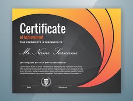 multifunktionellt professionellt certifikat mall design