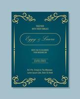 elegante Hochzeitseinladung mit stilvollen Ornamenten vektor