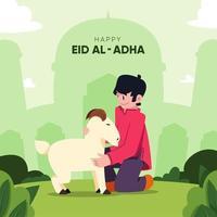 glücklicher eid al-adha Hintergrund vektor