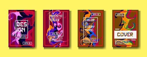 Design Template Cover, Poster, Broschürenset. Retro-Stil. a4 Format. eps 10 Vektor