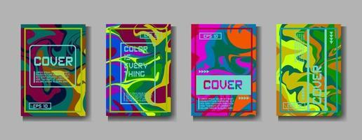 minimale Vektorabdeckung. eine Reihe von modernen abstrakten Covers. kreativer Popart-Dreieck-Elementvektor. geometrisches Booklet Cover Template Design. abstrakte Abdeckung. vektor