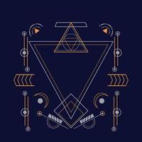 heiliges Geometriemuster für Hintergrund, poster.eps 10 Vektor