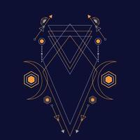 abstrakte heilige Geometrieverzierung für Hintergrund. eps10 Vektor