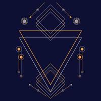 abstrakte heilige Geometrie Hand gezeichnete Vektor-Illustration Ornament vektor