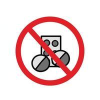 Sagen Sie Nein zu Drogen Vektor Design Vorlage Illustration