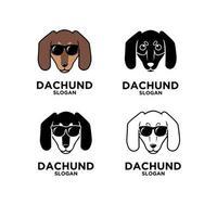 Dackel Head Dog Logo vektor