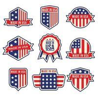 Made in USA Abzeichen gesetzt vektor