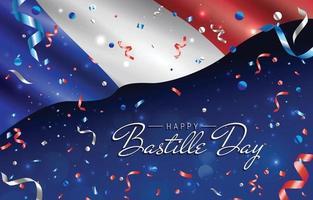glücklicher Bastille-Tageshintergrund vektor