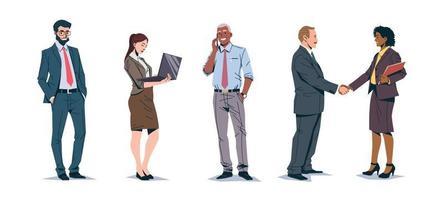 Satz von Geschäftsleuten Charaktere vektor