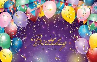 Alles Gute zum Geburtstag Hintergrundkonzept vektor