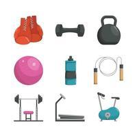 Home Gym Icon Sammlung vektor