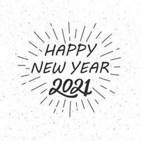 2021 wünschen neues Jahr auf hellem Hintergrund vektor