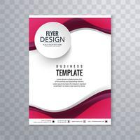 Abstrakt business flyer våg design vektor