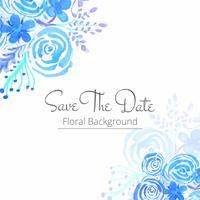 Abstrakt vattenfärg bröllop blommig bakgrund vektor