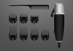 Realistische Salonwerkzeuge und -geräte vektor