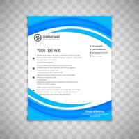 Abstrakt vågigblå affär broschyr mall design vektor